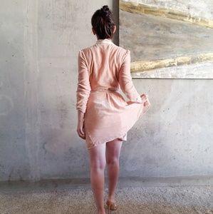 NWT WAYF Velvet Blush Wrap Dress